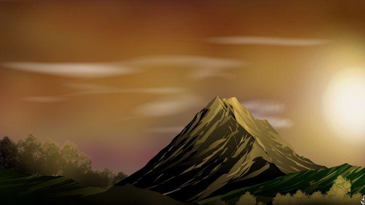 Mountain Sunset - Sivel