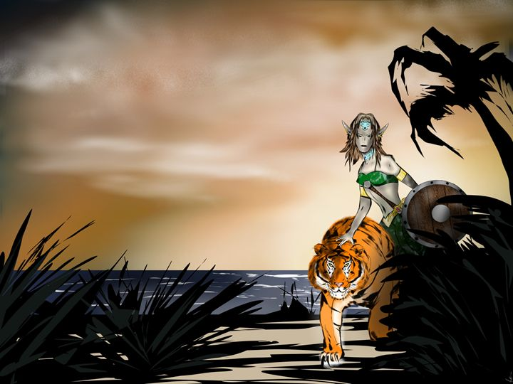 Elf with a Tiger - Sivel