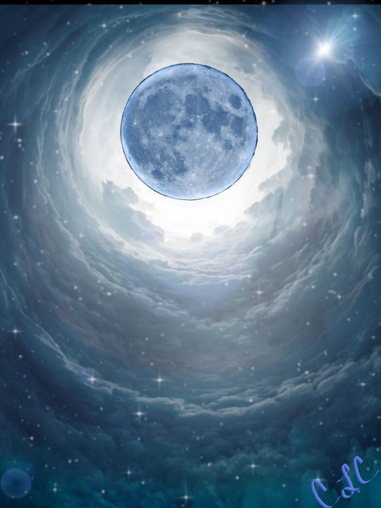 Blue moon - Casey's Art and Photography