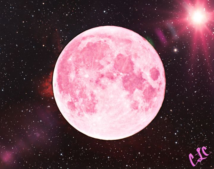 Pink moon - Casey's Art and Photography