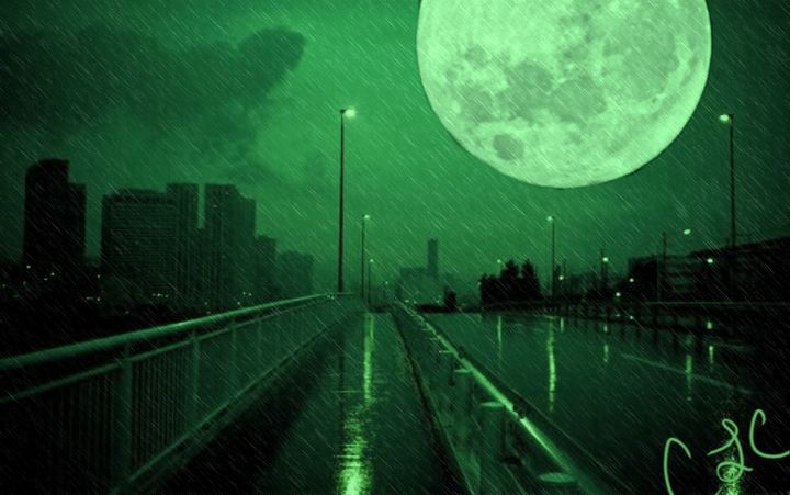 Green moon - Casey's Art and Photography