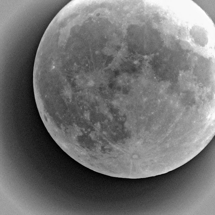 Black and white full moon - Casey's Art and Photography
