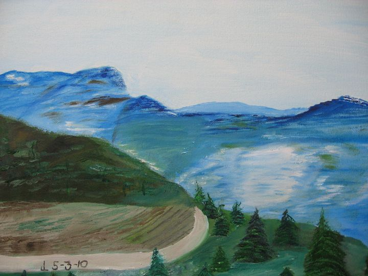 Mountain Road - Art from the Heart by Lighthart
