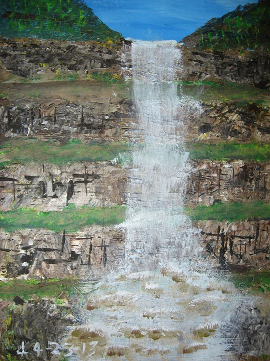 A Waterfall - Art from the Heart by Lighthart
