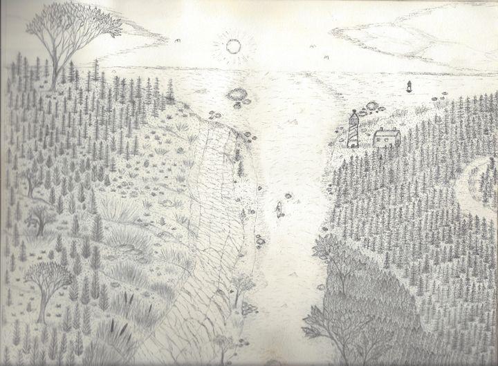 Lighthouse River - My Art