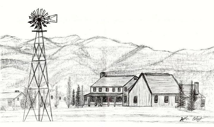 Farm Windmill - My Art