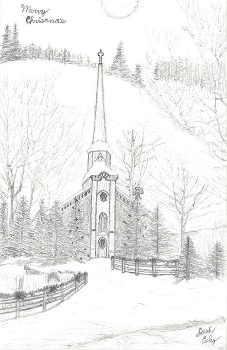 Christmas Church - My Art