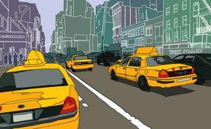 New York traffic. - Addi Rujoh