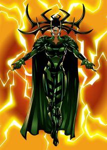 Hela Goddess of Death. Fan Art.