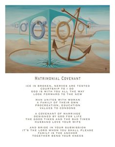 Matrimonial Covenant - with poetry
