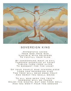 Sovereign King - with poetry