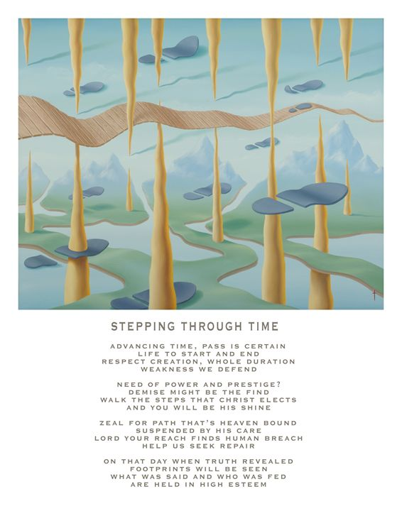 Stepping Through Time - with poetry - Eddie Vendetti