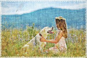 Девочка с собакой