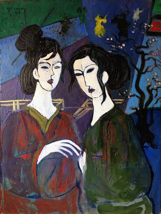 The Japanaises - Galceava Paintings