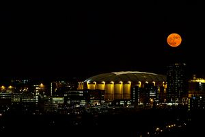 Orange Super Moon