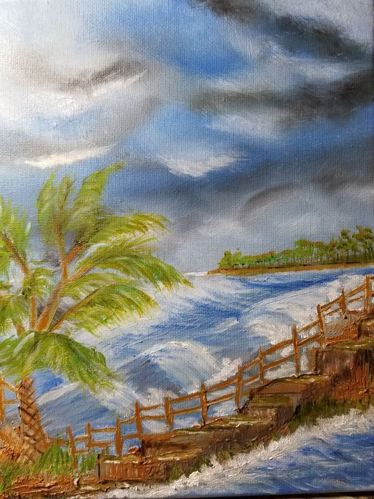 Tropical Staircase by the Sea - PankiwArt