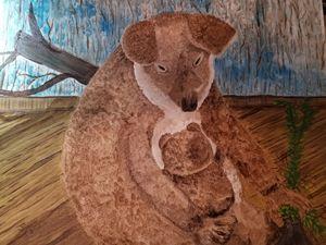 Tired Koala Mom and Baby