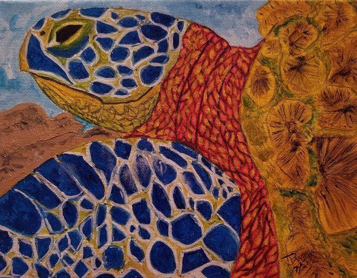 Hawaiian Green Sea turtle #5 - PankiwArt