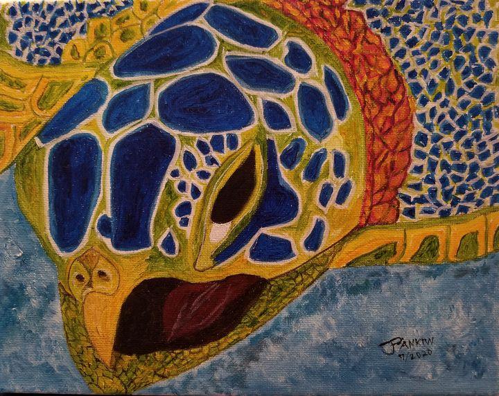 Hawaiian Green Sea turtle #4 - PankiwArt