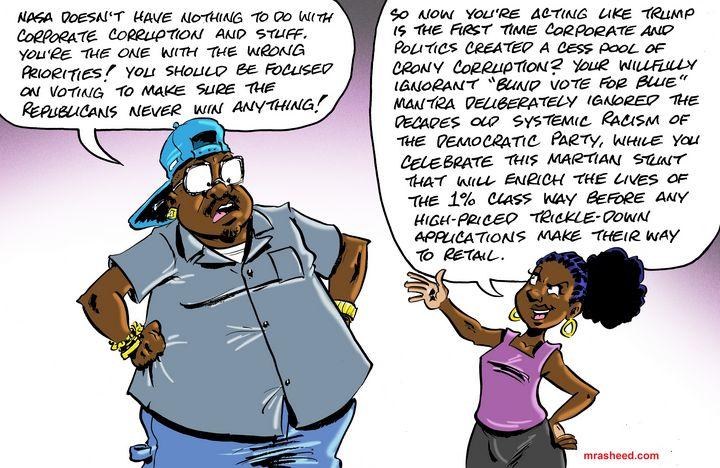 Astroboy's Nimble Partisan Pivot - M. Rasheed Cartoons