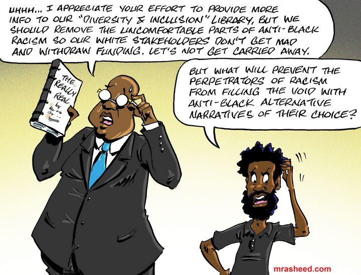 The Dilemma of the Black Gatekeep... - M. Rasheed Cartoons