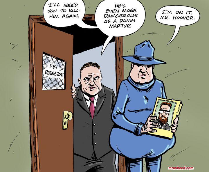 The Double Assassination of Malcolm - M. Rasheed Cartoons