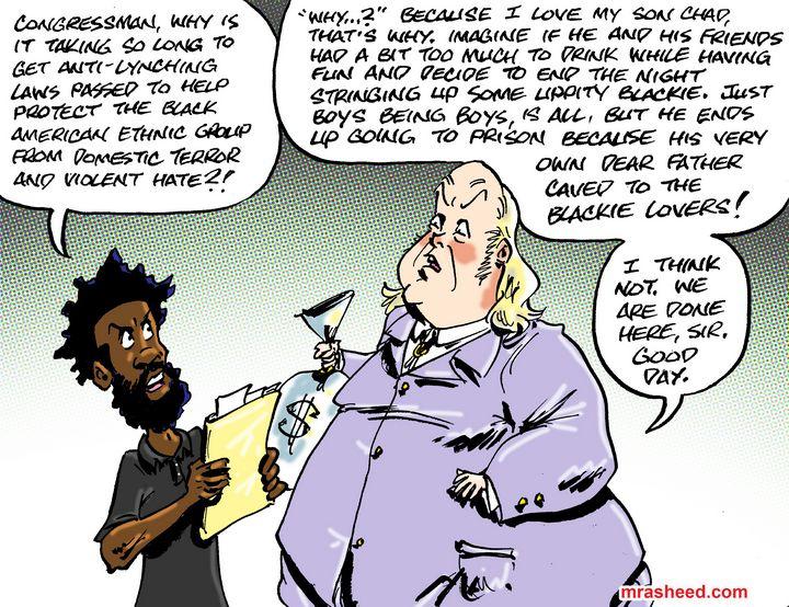 The Racist Art of Disenfranchisin... - M. Rasheed Cartoons
