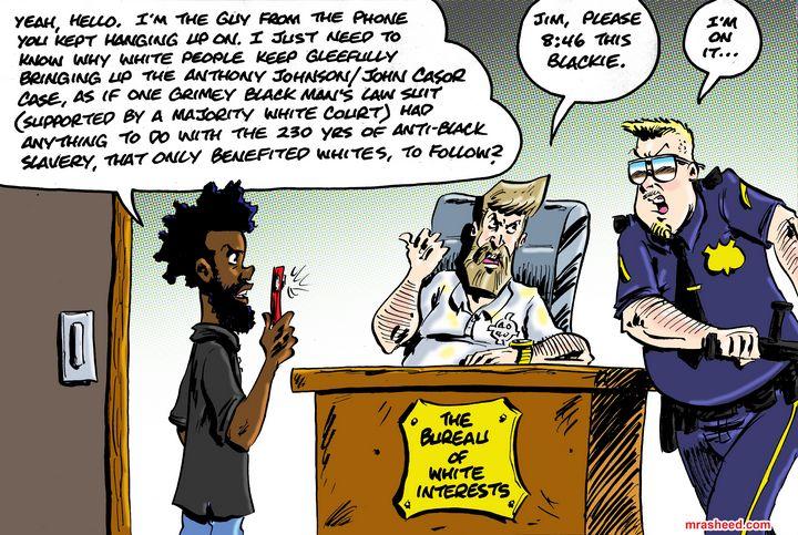 Uppity Pushback Against Racist Ga... - M. Rasheed Cartoons