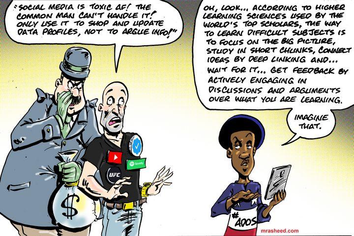 The One-Percent Hates the Net-Neu... - M. Rasheed Cartoons