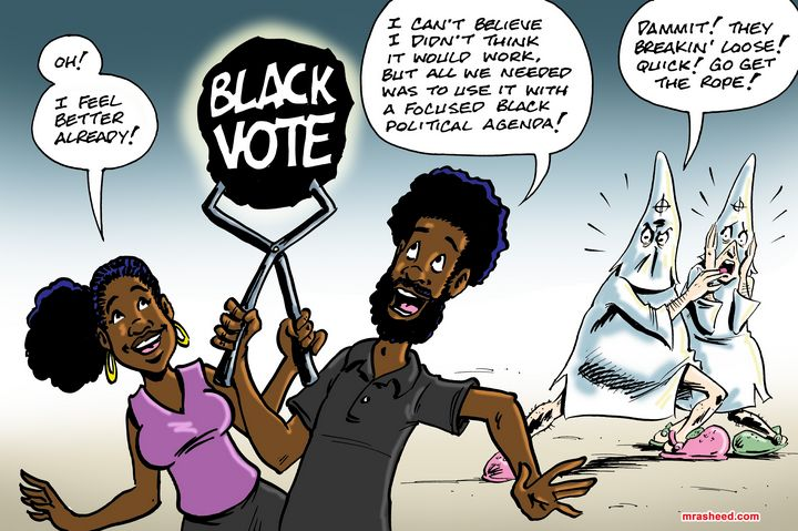 Harnessing the Black Vote - M. Rasheed Cartoons