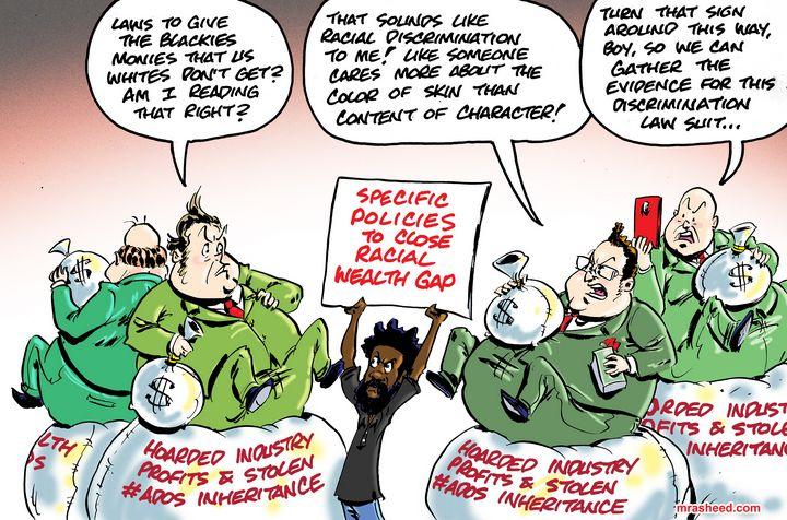 The Hurdle to Equity - M. Rasheed Cartoons