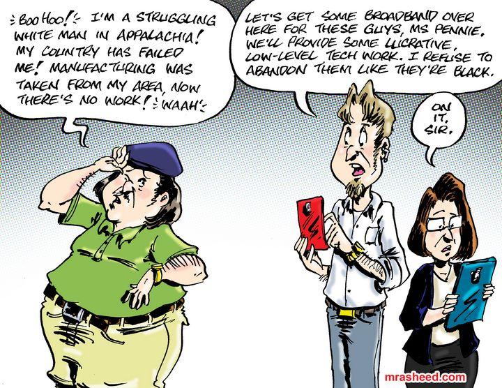 Victimhood & Compassion (Whites O... - M. Rasheed Cartoons