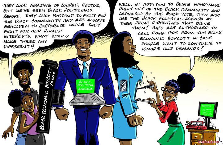 Real Black Representation - M. Rasheed Cartoons