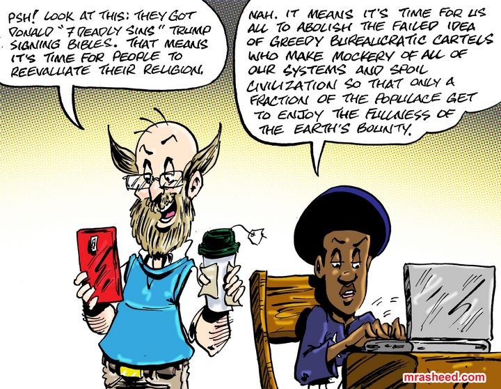 Why We Can't All of Us Have Nice... - M. Rasheed Cartoons