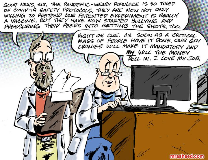 The Megalomaniacal Satisfaction o... - M. Rasheed Cartoons