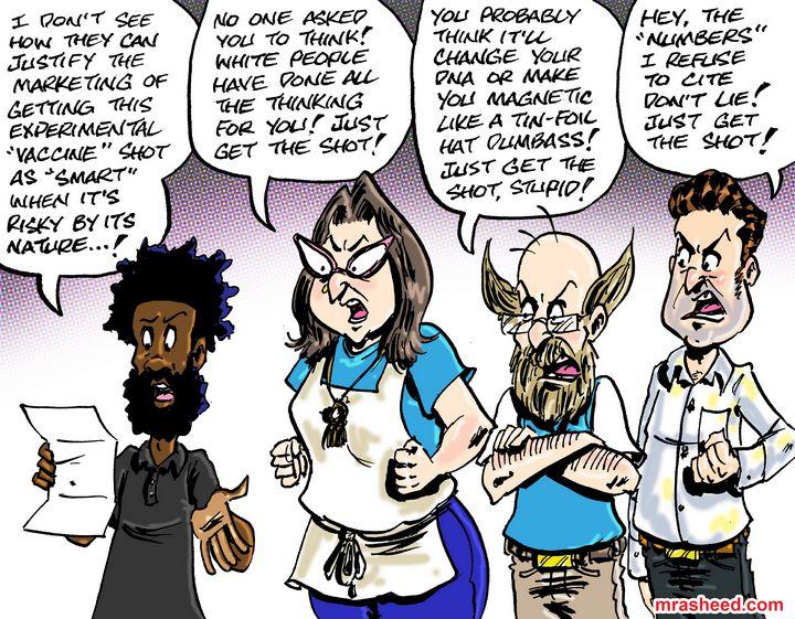 The Black American's Relationship... - M. Rasheed Cartoons