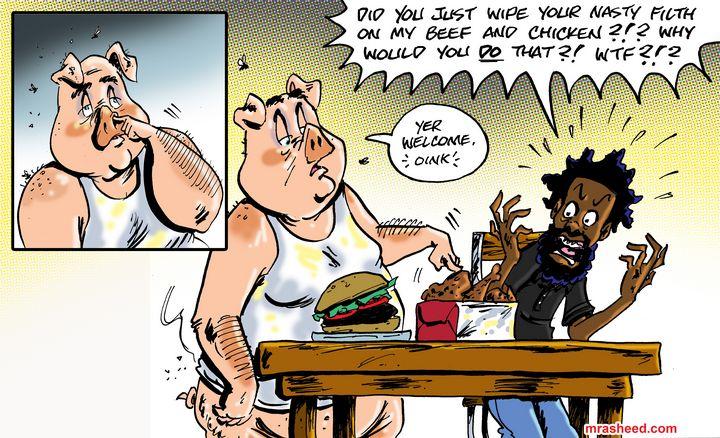 INGREDIENTS: Pork, Chicken & Beef... - M. Rasheed Cartoons