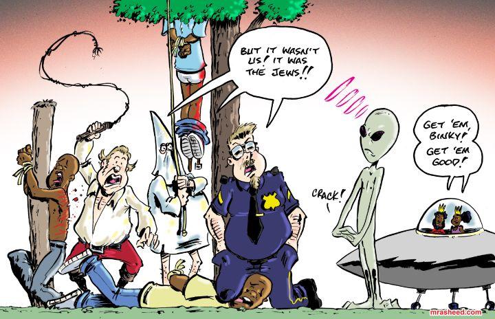 Weak Alibi of the Hired Goon Class - M. Rasheed Cartoons