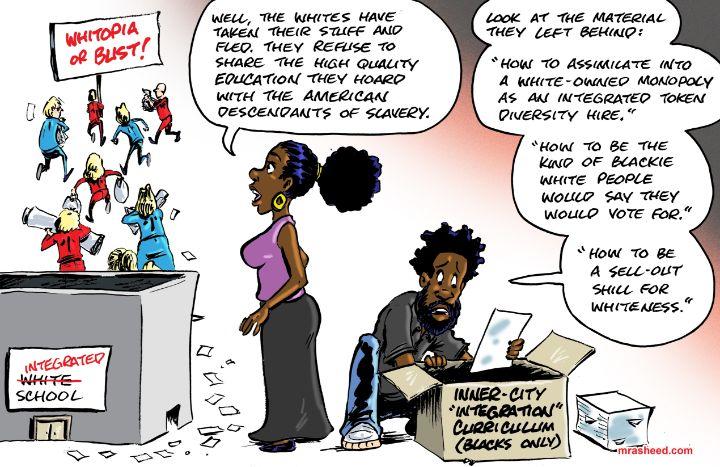 The 'White Flight' to Hoard All T... - M. Rasheed Cartoons