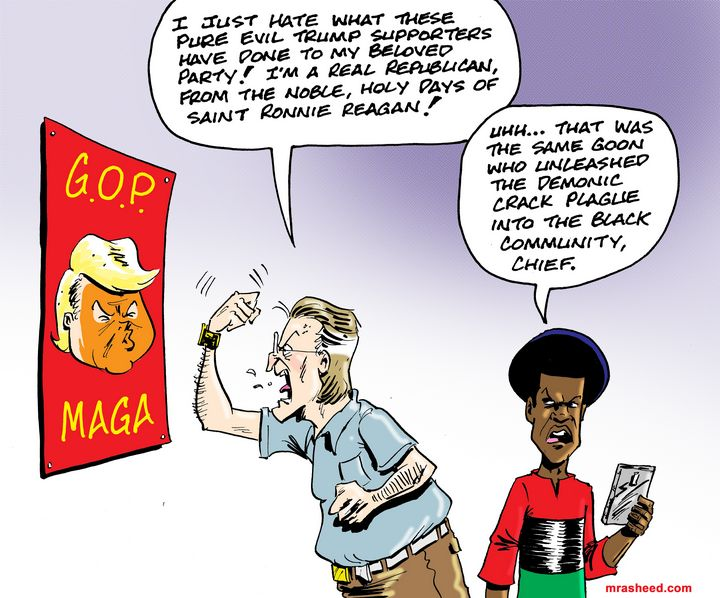 """That Artificially Propped Up """"Saint"""" - M. Rasheed Cartoons"""