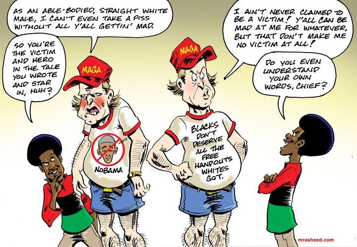 """DECODED: """"Victimhood"""" - M. Rasheed Cartoons"""