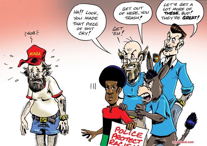 Rewarding Behavior by Tipping Hands - M. Rasheed Cartoons