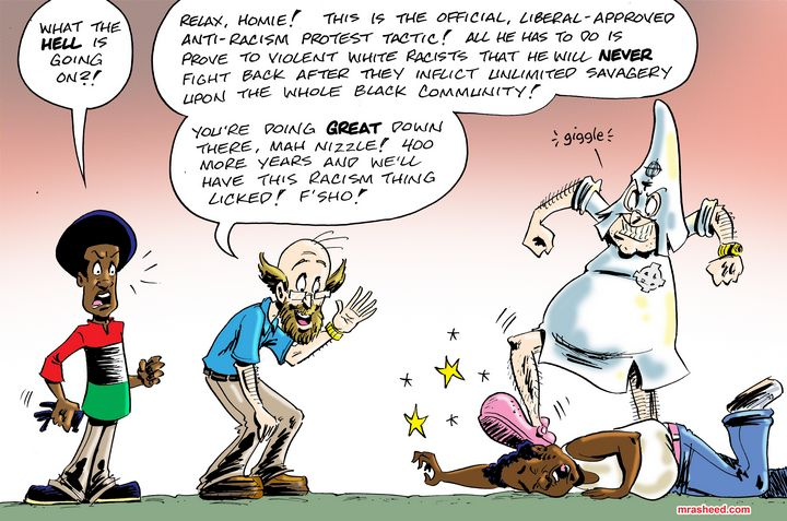 Protecting Racism from the Left Side - M. Rasheed Cartoons