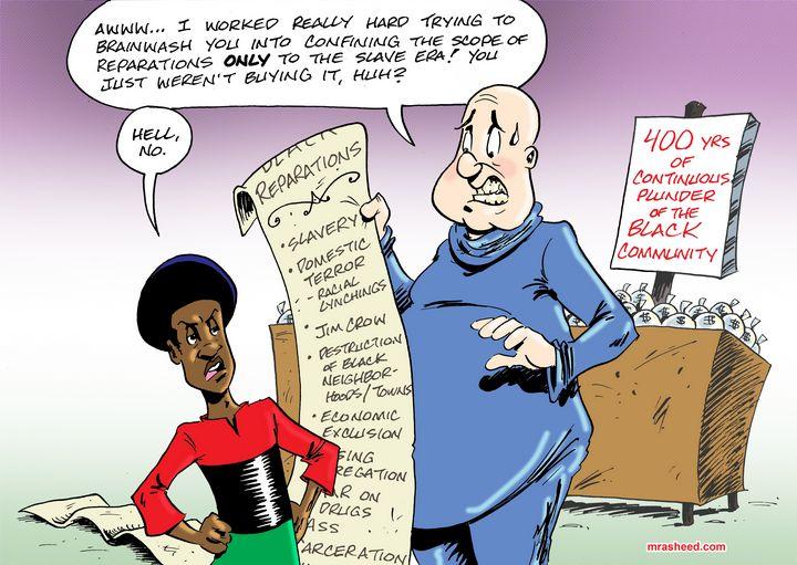 The Racist's Contingency Plan - M. Rasheed Cartoons
