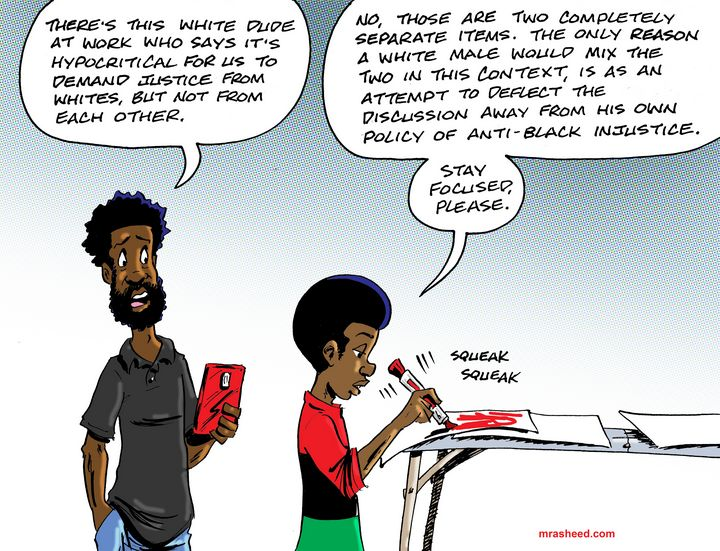 Misdirection as Policy - M. Rasheed Cartoons