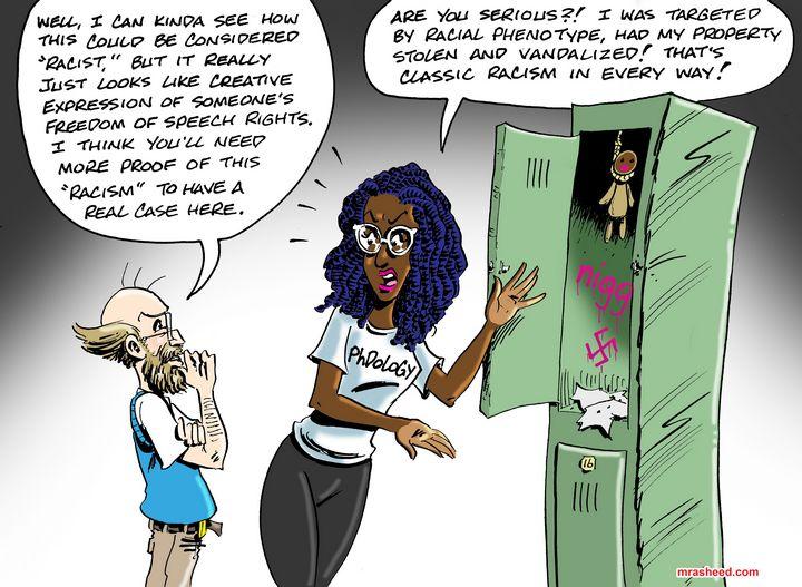 Racism's First Line of Defense - M. Rasheed Cartoons