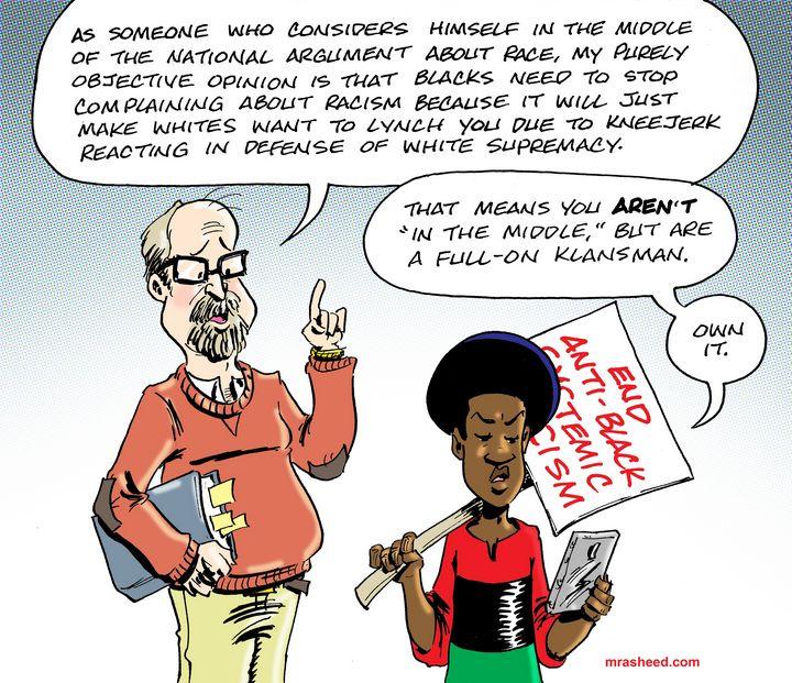 Gentle Handling of Whitopia - M. Rasheed Cartoons