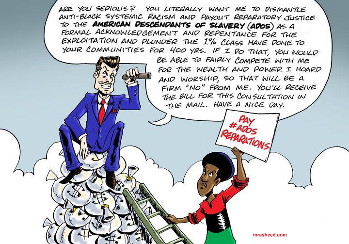 Argument Against Reparations, 3 of 3 - M. Rasheed Cartoons
