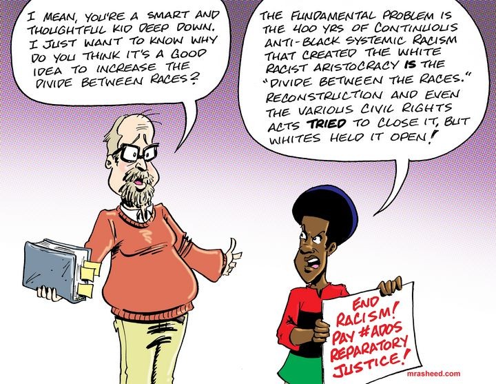 Closing the Racial Divide - M. Rasheed Cartoons