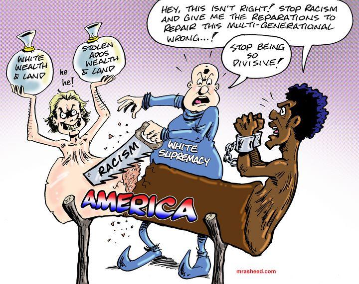 America's Enduring Sin - M. Rasheed Cartoons